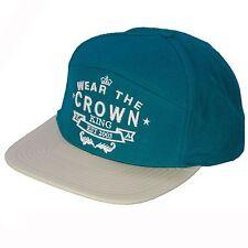 King Apparel Snapback Cap ~ Wear The Crown Teal