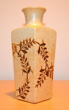 POTTERY CRAFT Hand Crafted Stoneware Rustic Vase (Brown/Tan) Made in U.S.A.