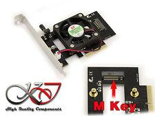 Scheda Controller PCIE 4x VENTILATO per SSD M2 SAMSUNG PM951 SM951 950 Pro 960