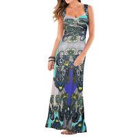 Women's Summer Boho Casual Cocktail Long Print Maxi Evening Party Beach Dress
