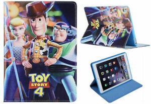 For Apple iPad Mini 1 2 3 4 5 Toy Story 4 Disney Cartoon Smart Stand Case Cover
