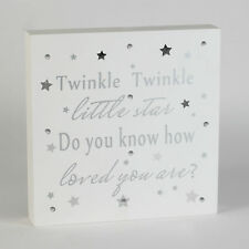 Twinkle Twinkle Little Star Light Up Star Piastra a parete NUOVO BAMBINO IDEA REGALO
