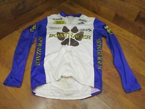 VINTAGE KEITH BONTRAGER by AUSSIE LONG SLEEVE FULL ZIP CYCLING JERSEY MENS LARGE