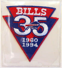 BUFFALO BILLS ~ 35th ANNIVERSARY ~ NFL TEAM PATCH ONLY Willabee & Ward WORN 1994