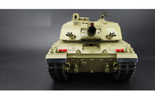 HENG LONG REMOTE RADIO CONTROL RC MODEL CHALLENGER ARMY BATTLE TANK SMOKE SOUND