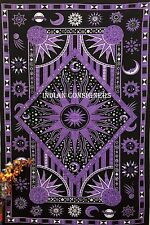 Magical Celestial Sun Moon Stars Twin Bedspread Tapestry Abstract Wall Hangings