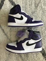 *No box* Brand New Deadstock Nike Air Jordan 1 Retro High Og Court Purple Size 8