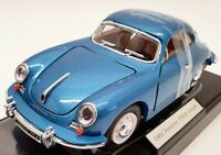 Superior Collectibles 1/24 Scale SS7721W - 1961 Porsche 356b Coupe - Blue