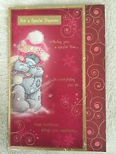 SPECIAL STEPMUM CHRISTMAS TATTY TEDDY ME TO YOU CARD FROM 99p