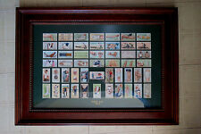 WILLS FIRST AID SERIES 50 COMPLETE SET of 1913 MEDICAL CIGARETTE CARDS - FRAMED