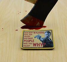 Rick Grimes 3 Questions Morale Patch Walking Dead TWD VELCRO® Brand Fastener