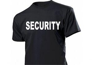 Security T-Shirt Fun Shirt TOP Gr 3-5XL Sicherheitsdienst