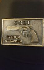 1970's Antique COLT .357 MAGNUM PYTHON Revolver BELT BUCKLE