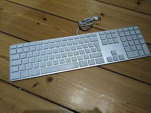 Apple Keyboard A1243 mit Ziffernblock & USB Hub - QWERTZ Tastatur iMac Deutsch