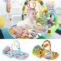 4 in 1 Fitness Music Baby Play Mat Lay and Kids Gym Playmat Fun Piano Girls Boys