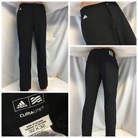 Adidas ClimaLite Golf Pants 32x32 Black Poly Flat Front LNWOT YGI RE1562