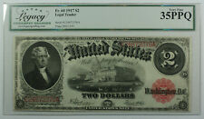 1917 $2 Two Dollar Legal Tender US Note Fr. 60 Legacy VF-35 PPQ
