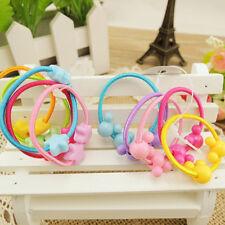 50Pcs Cartoon Animal Elastic Hair Band Rope Ponytail Holder For Kids Girl