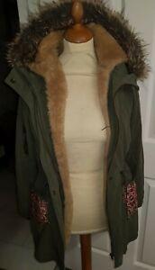 Oasis Women's Fabulous 2 in 1 Parka COAT & Detachable Bodywarmer Size 10