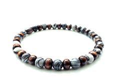 Men's beaded stretch bracelet stone wooden yoga beads wristband jewelry cuff