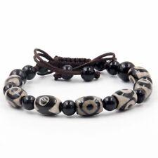 Agate Gem Heaven Eye Beads Dzi Tibet Buddhist Prayer Beads Mala Bracelet