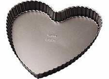 WILTON SAN VALENTINO ANTIADERENTE Loose toccato il fondo a forma di cuore CROSTATA QUICHE torta Pan Tin