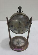 Antique Brass Replica Vintage Desk Clock  Table Clock  Replica's Gift item