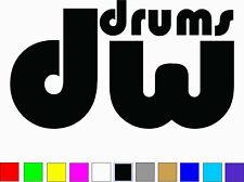 DW DRUMS Logo Vinyl Decal Die Cut Sticker