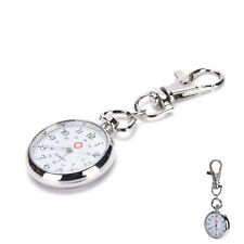 Stainless Steel Quartz Pocket Watch Cute Key Ring Chain Gift DSUK