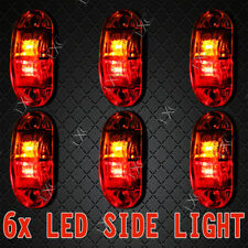 6x LED Marker Lights Submersible Clearance Lamps Truck Ute Trailer Amber Red