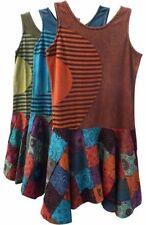Vestiti da donna hippii multicolore con girocollo