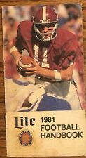 1981 Miller Lite NFL Football handbook *Free Shipping*