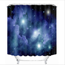"""60x72"""" Abstract Blue Space Star Bathroom Polyester Waterproof Shower Curtain Set"""