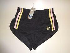 Rombo vintage 80er 90er Shorts shiny Sporthose Sprinter Gr.: 5 / M - schwarz
