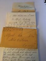 Handwritten Letter Hiram Andrews West Windsor Connecticut Lewis Genealogy 1869