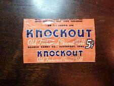 Vintage Knockout Peanut Roll Candy Bar Wrapper