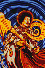 3D JIMI HENDRIX-60X90 TAPESTRY-Psychedelic-Free 3D Glases-EXPERIENCE-LICENSED