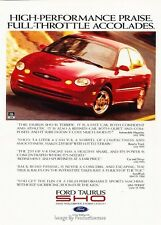 1997 Ford Taurus SHO  - Original Advertisement Print Art Car Ad J621