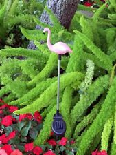 Set of 2 Garden Decoration Pink Flamingo Solar  Stick Color Change Light