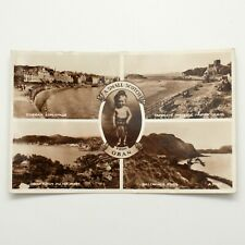 A Small Scotch from Oban Scotland Multi view Vintage Postcard Used Postage 1950s
