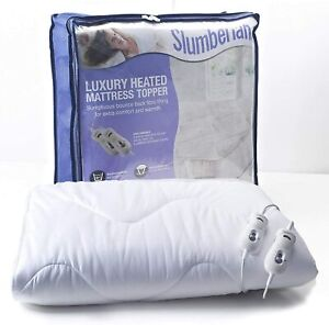 Slumberland Luxury Heated Electric Mattress Topper Dual Control Double King Size