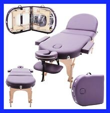 Massage Imperial® Purple Monarch Portable Massage Table Couch Beauty Therapy Bed