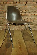 60er Eames Original Fiberglas Stuhl Herman Miller Side Chair DSS braun Vitra 1/5