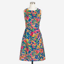 J.Crew Printed Pleated Shift Dress Size 0 MSRP $118 - New with Tags