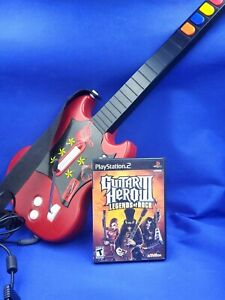 Red Wired Guitar Hero 3 Gibson SG Controller PSLGH Game Bundle PlayStation 2