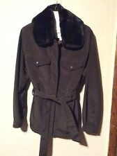 Andrew Marc New York Womans Convertible Jacket Size S Dark Brown