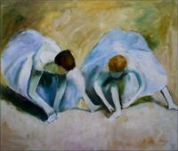Quality Hand Painted Oil Painting Repro Edgar Degas Ballerinas 20x24in