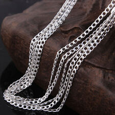 """925 Sterling Silver Link Chain Necklace 18""""  Wholesale Lot of 10 Liquidation"""