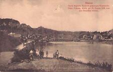 SELTEN  Foto AK 1915 @Namur : gesprengte Brücke über Maas @WW1 WK1