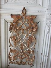 THE BEST OLD ARCHITECTURAL Salvaged METAL DECOR PIECE Ornate FLOWERS Chippy